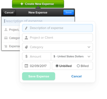 Create new expense interface improvements.