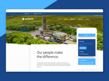 Baywater homepage.