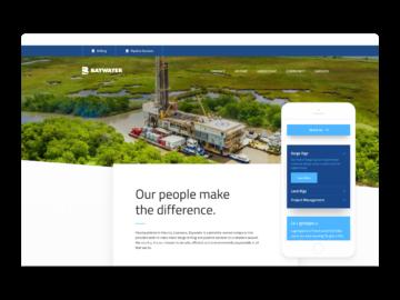Baywater mobile and desktop screenshots.