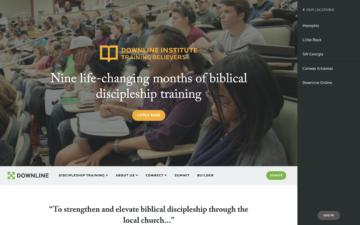 Downline Ministries homepage.
