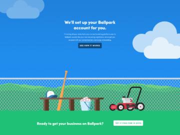 GetBallpark.com account creation illustration screenshot