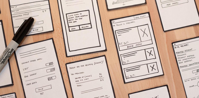 HLPR paper prototypes.