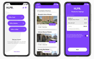 HLPR app mobile screens.