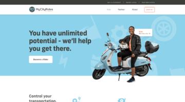 MyCityRides homepage.