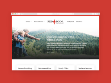 Red Door Wealth homepage