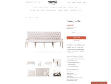 Example product detail page.