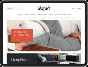 StashHome.com homepage mockup