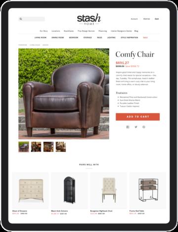 Product page ipad