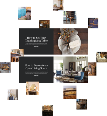 collage of home decorating inspirational imagery