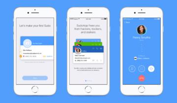 Sudo mobile interface screenshots.