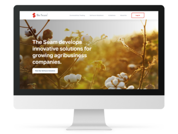 The Seam homepage on desktop.