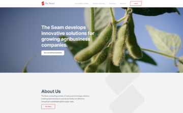 The Seam homepage.