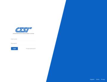 CTSI login screenshot